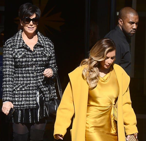 Kim Kardashian shopping at Barneys New York and Chanel with Kanye West and Kris Jenner in Beverly Hills, Los Angeles, on December 11, 2013