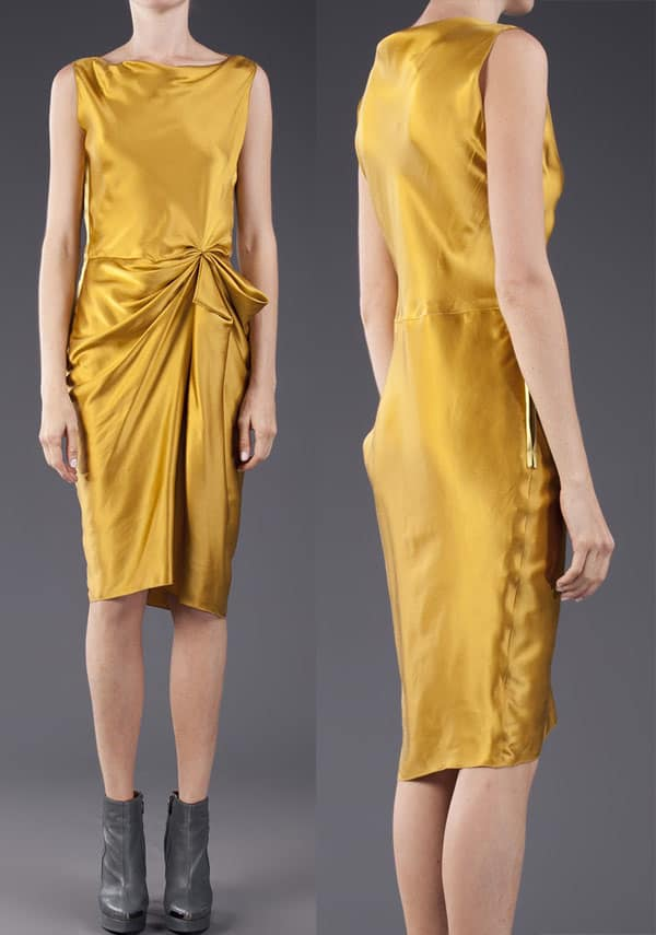 Lanvin Boat-Neck Fitted Dress
