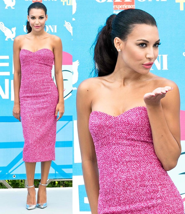 Naya Rivera at the Giffoni Film Festival in Italy on July 23, 2013