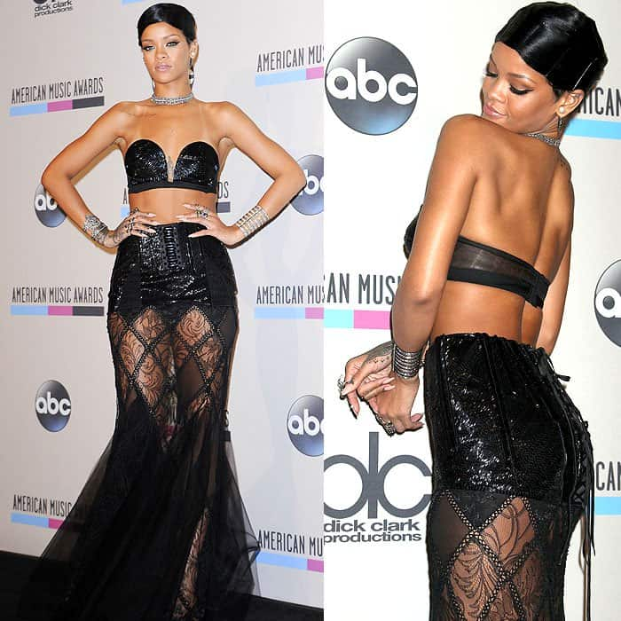 Rihanna looking incredibly sexy at the 2013 American Music Awards