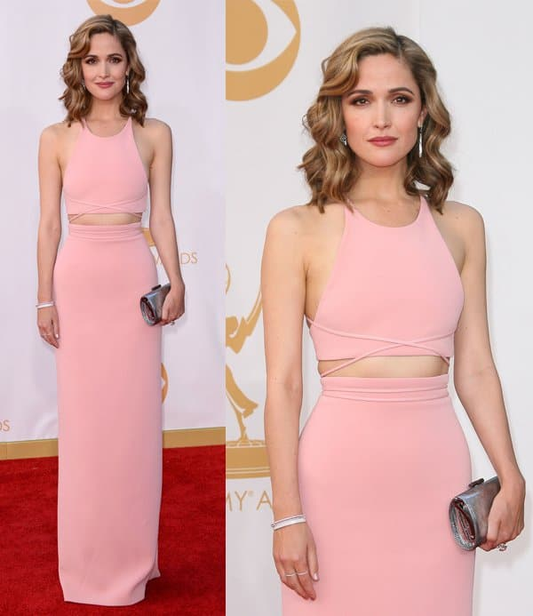 Rose Byrne at the 65th Annual Primetime Emmy Awards held at Nokia Theatre L.A. Live in Los Angeles, California, on September 22, 2013