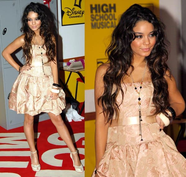 Vanessa Hudgens at the UK film premiere of High School Musical held at The Empire in London, England, on September 10, 2006
