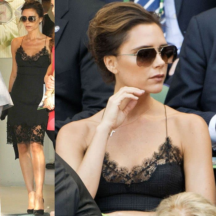 Victoria Beckham at the Men's Final Day of the Wimbledon Tennis Championship 2013