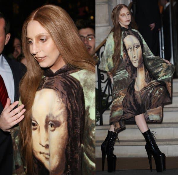 Lady Gaga in Mona Lisa Dress