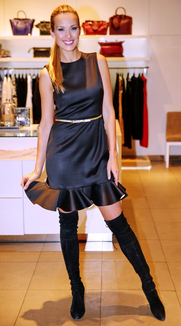 Petra Nemcova at a luxury boutique in Prague, Czech Republic, on December 22, 2013