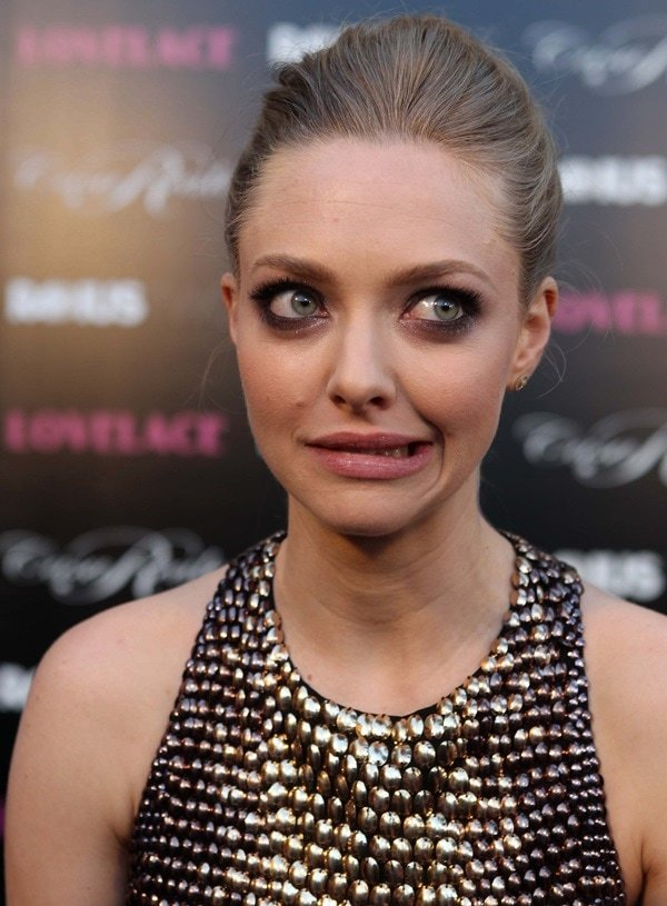 Amanda Seyfried at the Los Angeles premiere of 'Lovelace'