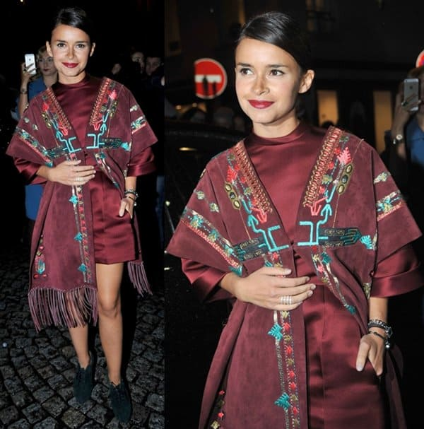 Miroslava Duma at Paris Fashion Week's Valentino Spring/Summer 2014 Show in Paris, France, on January 22, 2014
