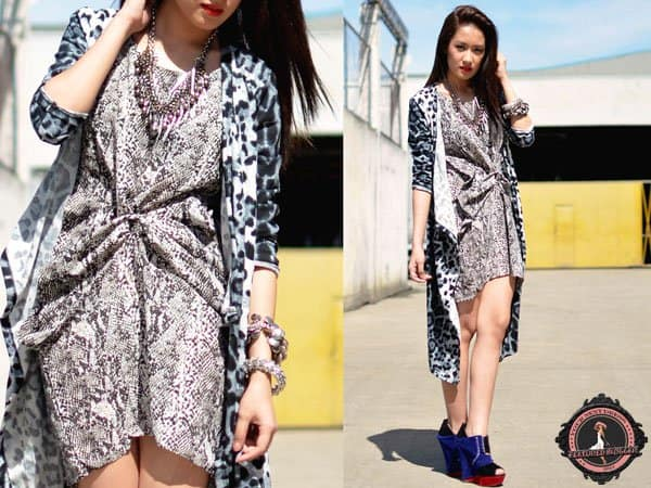 Laureen rocks a tie knot dress with cool summer shoes