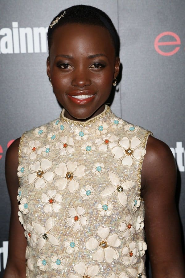 Lupita Nyong'o in a gorgeous vintage Valentina dress