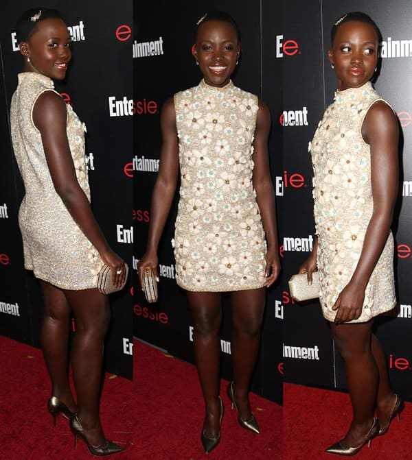 Lupita Nyong'o at Entertainment Weekly's Screen Actors Guild Party held at Chateau Marmont in Los Angeles on January 17, 2014
