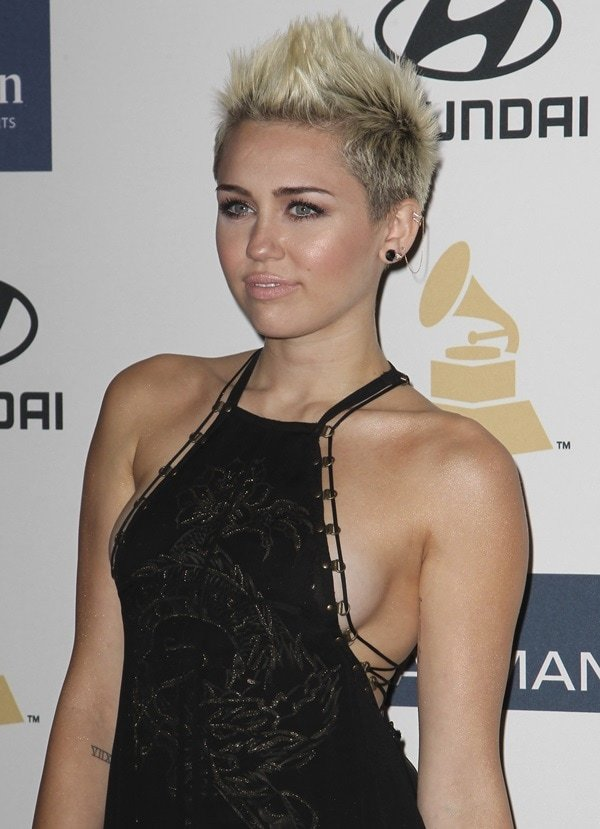 Miley Cyrus rocked a daring Emilio Pucci dress