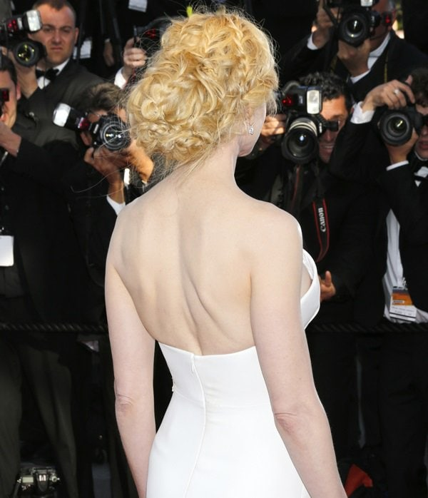 Nicole Kidman's white Giorgio Armani dress