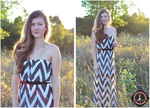 Nieszka shows how to rock a chevron print maxi dress