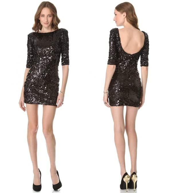 Blaque Label Scoop Back Sequin Dress in Black