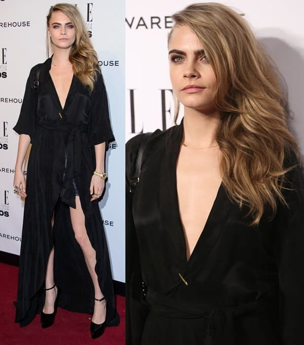 Cara Delevingne looking sexy at the ELLE Style Awards