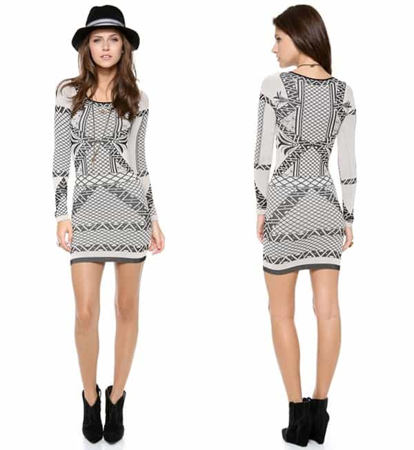 Free People Coachella Intarsia Dress