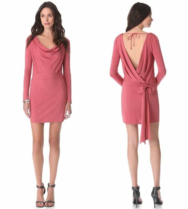 Haute Hippie Faux-Wrap Dress