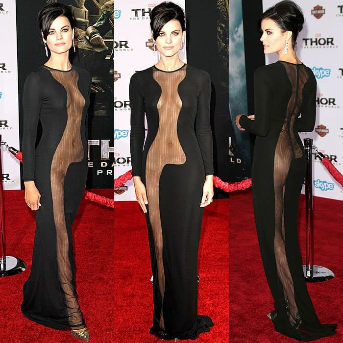 Jaimie Alexander started it all with the following Azzaro gown