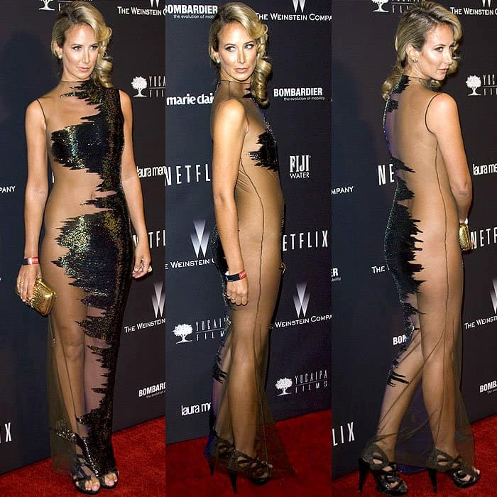 Lady Victoria Hervey wearing a very revealing dress