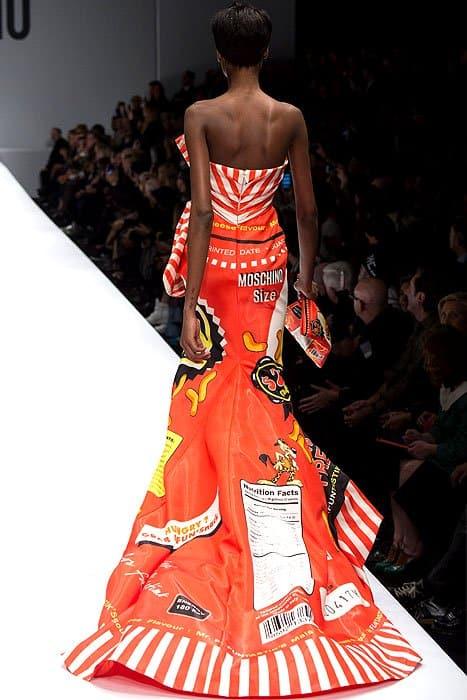 Moschino Fall 2014 Cheetos dress 1
