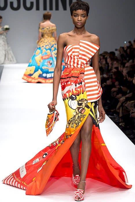 Moschino Fall 2014 Cheetos dress