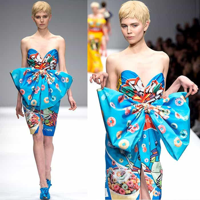 Moschino Fall 2014 Froot Loops dress