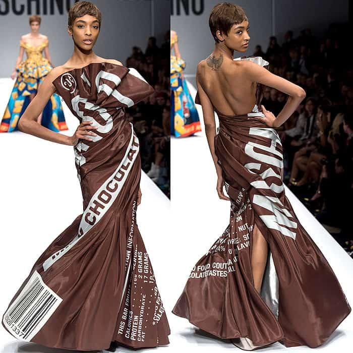 Moschino Fall 2014 Hershey's dress