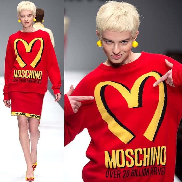 Moschino Fall 2014 McDonalds dress 1