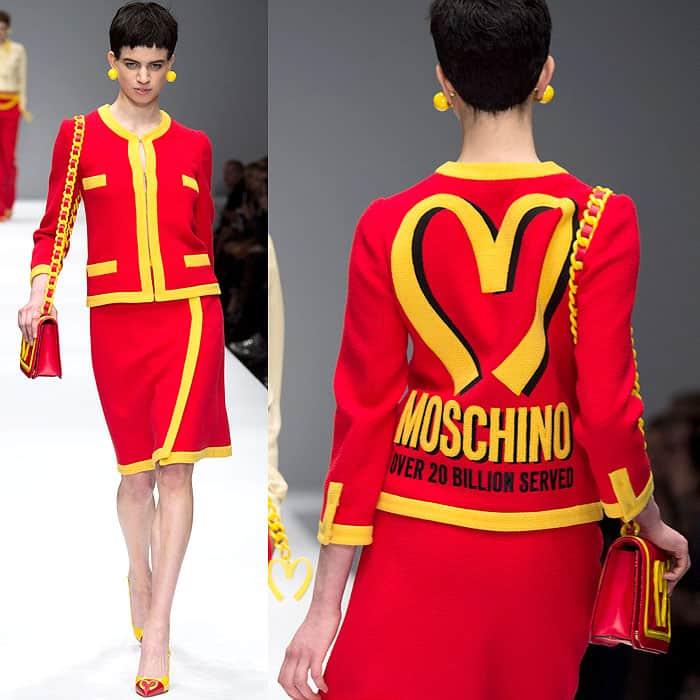 Moschino Fall 2014 McDonalds dress