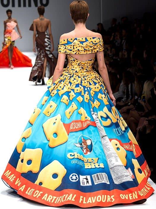 Moschino Fall 2014 cheese crackers dress 1
