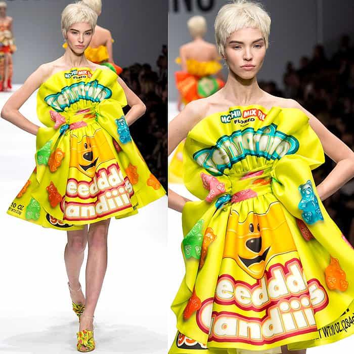 Moschino Fall 2014 gummy bear dress