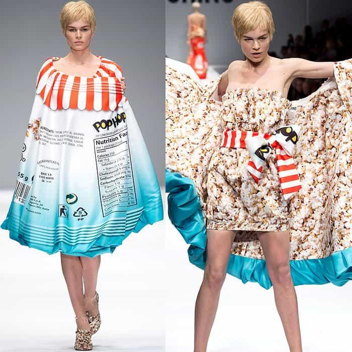 Moschino Fall 2014 popcorn dress