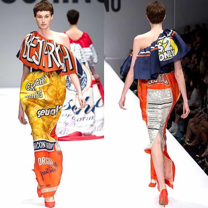 Moschino Fall 2014 potato chips dress