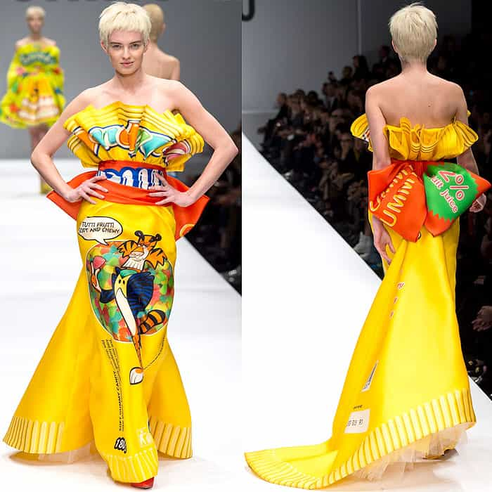 Moschino Fall 2014 sour candy dress