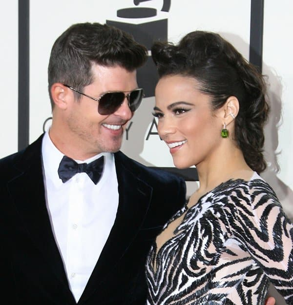 Paula Patton with her husband Robin Thicke