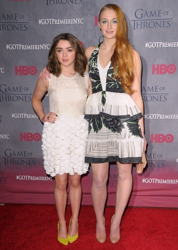 Game of Thrones Maisie Williams and Sophie Turner