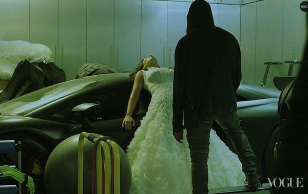 Kim Kardashian Kanye West Car Scene