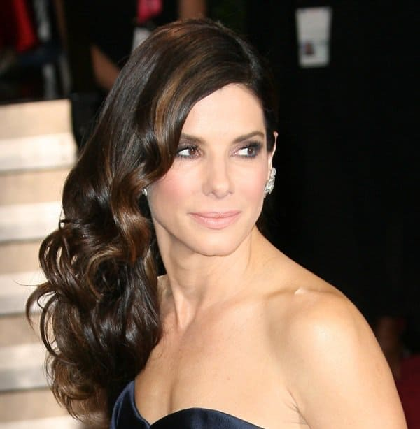 Actress Sandra Bullock arrives at the 86th Annual Academy Awards