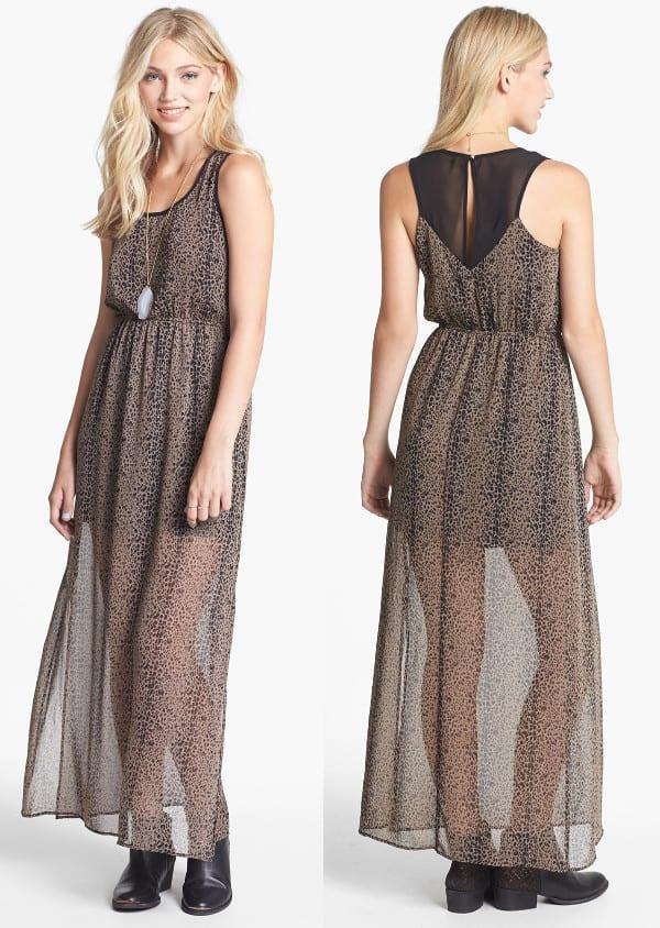 Dee Elle Racerback Print Maxi Dress