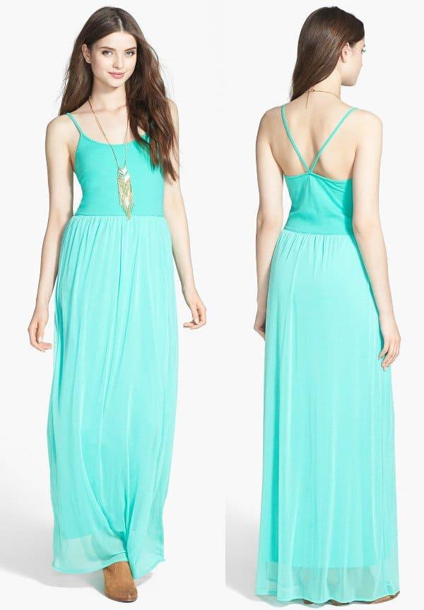 Frenchi V-Strap Maxi Dress