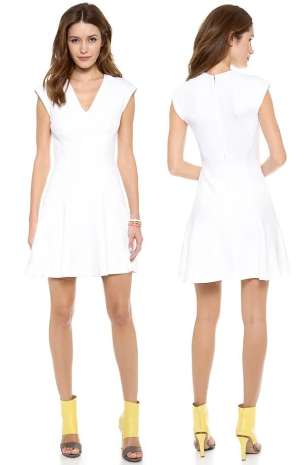 Rebecca Taylor - Short Sleeve Texture Dress