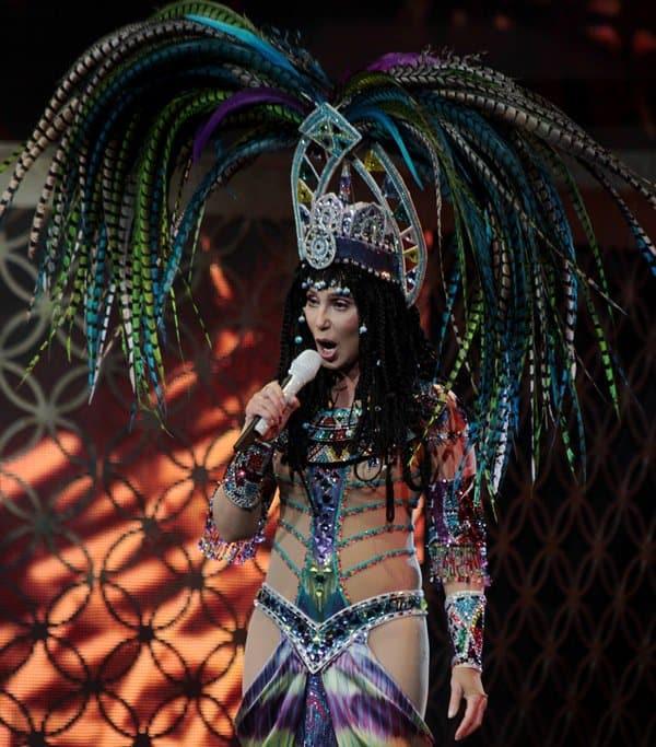 Cher live in concert in Boston, MA.