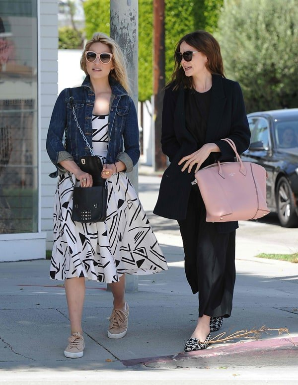Dianna Agron and Carey Mulligan out for lunch in West Hollywood