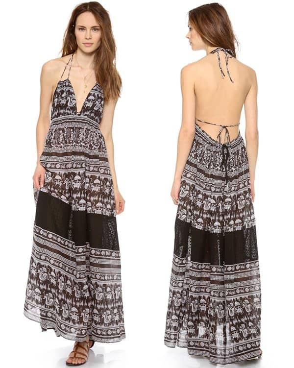 Free People Printed Triangle Top Maxi Dress3