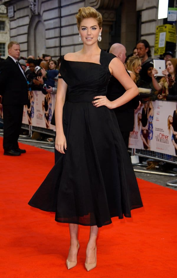 Kate Upton at the premiere of The Other Woman held at Curzon Mayfair