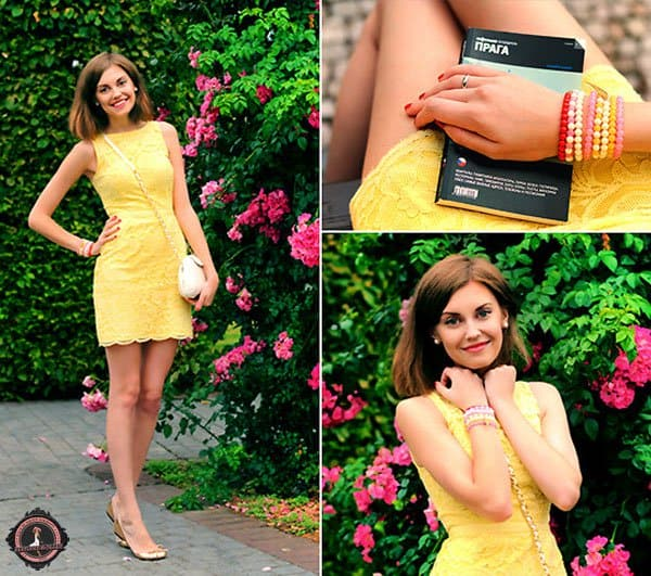 Anastasia shows that gold and yellow go together