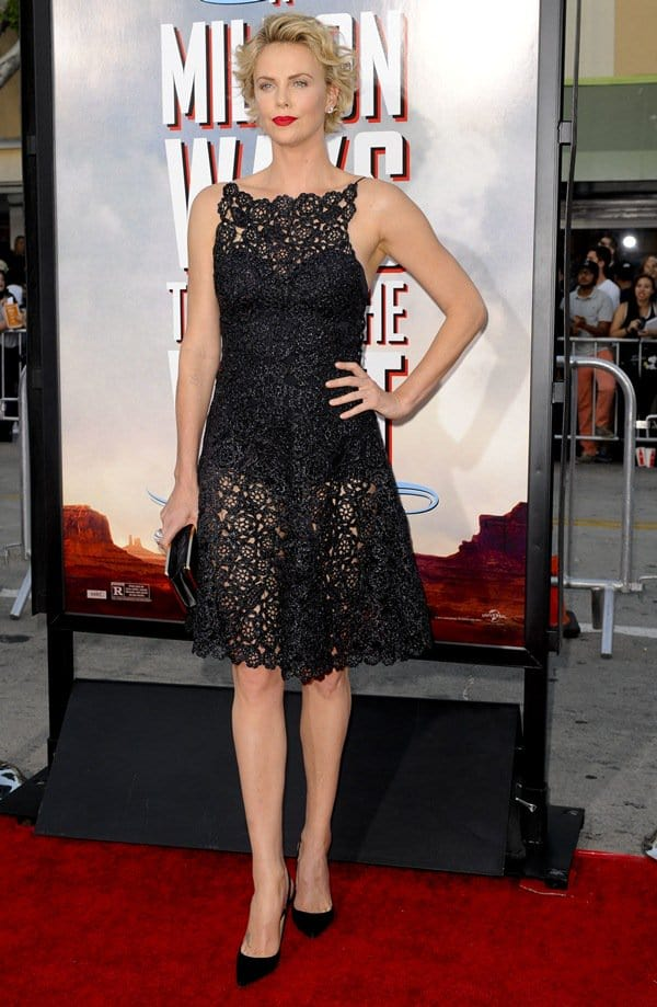 Charlize Theron Raffia Dress
