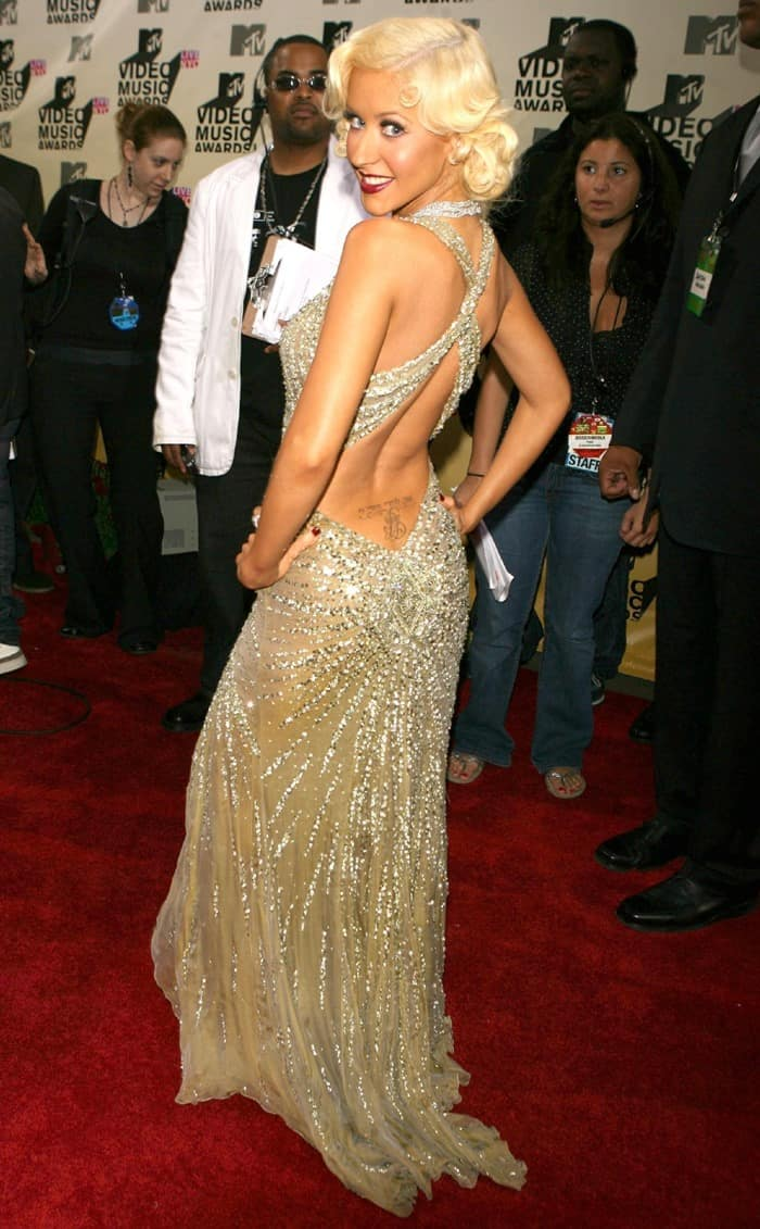 Christina Aguilera at the 2006 MTV Video Music Awards held at the Radio City Music Hall in New York City on August 31, 2006
