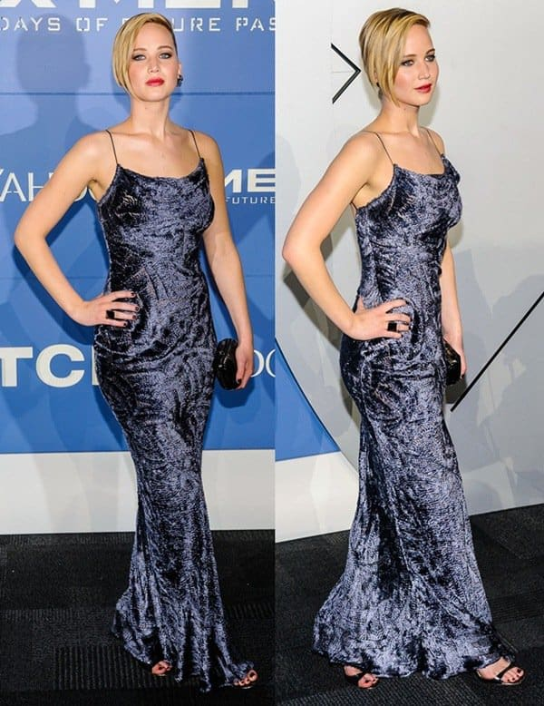 Jennifer Lawrence at the world premiere of 'X-Men: Days of Future Past' held at the Jacob Javits Center in New York City on May 10, 2014