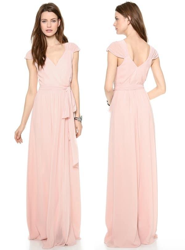 Joanna August Newbury Cap-Sleeve Wrap Dress